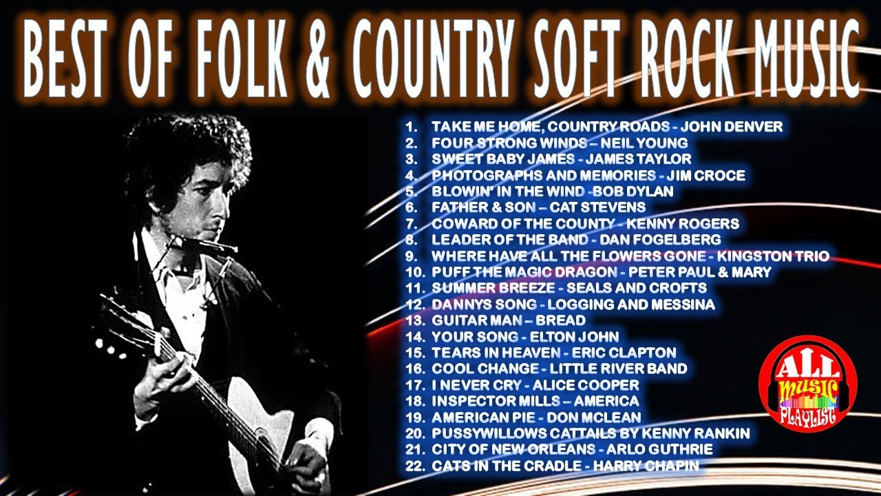 BEST OF FOLK & COUNTRY SOFT ROCK MUSIC - NONSTOP COMPILATION OF THE 70s SOFT ROCK